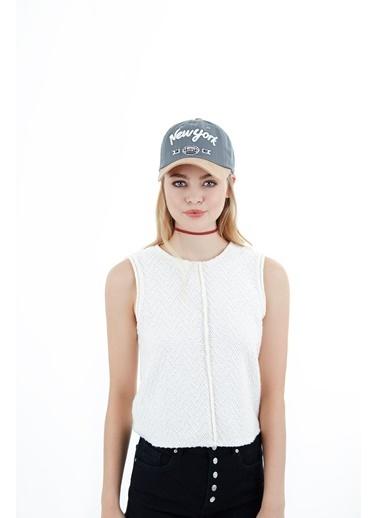 Laslusa Newyork Beyzbol Cap Şapka Gri